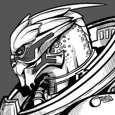 Garrus by DavinArfel Mass Effect Garrus, Mass Effect 1, Mass Effect Universe, Thane Krios, Alien Character, Character Art, Nerd Love, Dragon Age, Cool Art
