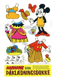 Recortables de Disney paper dolls
