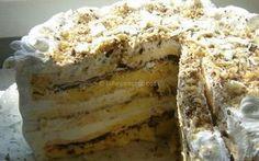 Bidermajer torta s tamnom i belom čokoladom - Kuhinja i Recepti Torte Recepti, Kolaci I Torte, Baking Recipes, Cake Recipes, Dessert Recipes, Desserts, Brze Torte, Salmon Pie, Serbian Recipes