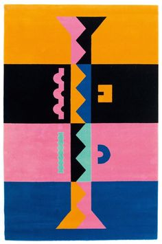 Alessandro Mendini; Wool 'Ollo' Rug by Assur Carpets, 1988.