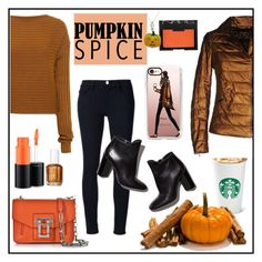 """""""Pumpkin Spice is back"""" by prettykittyzola ❤ liked on Polyvore featuring Casetify, VINTAGE DE LUXE, Frame Denim, Pierre Hardy, TIBI, MAC Cosmetics, Proenza Schouler, NARS Cosmetics and Tiffany & Co."""