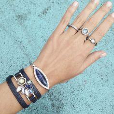 #stackablerings #stackablebracelets #bluestone #stonejewelry #stone #designer #summeroutfit #summeraccessory #fashion