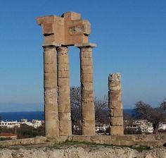 The Temple Of Apollo on Monte Smith in Rhodes Greece  https://theislandofrhodes.com/monte-smith-in-rhodes