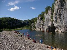 photos touristiques - Casteljau - Plage des Actinidias, Chassezac