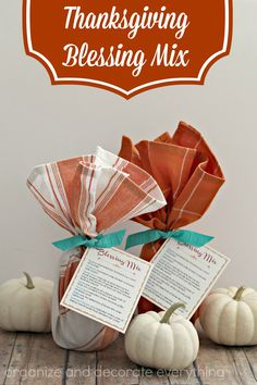 Thanksgiving Blessing Mix with free printable - Organize and Decorate Everything
