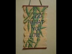 Best Out Of Waste Paper Wall Hanging - Bamboo Plant Painting.(Part-1)