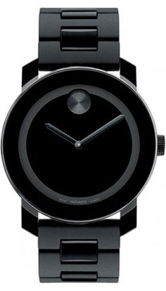 Movado Blackout Watch. 49 more gift ideas for #FathersDay: http://www.menshealth.com/best-life/fathers-day-gifts?cm_mmc=Pinterest-_-MensHealth-_-Content-BL-_-FathersDayGifts