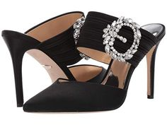 Sandália Salto Alto Grosso Couro Preto UZA Shoes Sapatos
