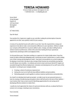 covering letter for cv