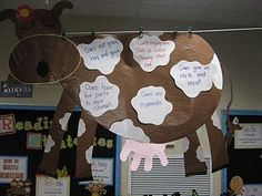 Writing-information about cows... possible farm unit activity