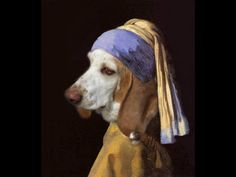 The basset with a pearl earring