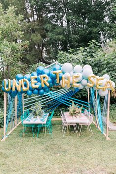 Sharks and mermaids joint birthday pool party Layer Cakelet) Mermaid Party Decorations, Birthday Party Decorations, Birthday Ideas, Funny Birthday, Happy Birthday, Joint Birthday Parties, Summer Birthday Parties, Under The Sea Decorations, Pool Party Kids