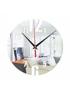 10 Mirror Wall Clock Ideas Mirror Wall Clock Mirror Wall Wall Clock