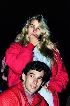 Ayrton Senna with Adrienne