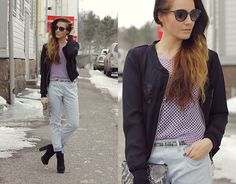 Outi Toivola - Gina Tricot Mesh Knit, H&M Bf Jeans - Just Basic