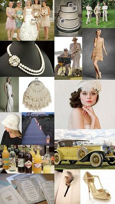great gatsby wedding LOVE! Driving  in that car for mine