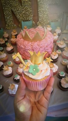 Princess theme cupcakes. all edible toppers made out of fondant.