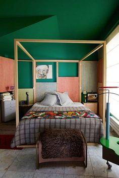 // francis amiand #colorblock bedroom