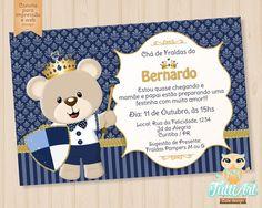 Convite Ursinho Príncipe - Arte Digital
