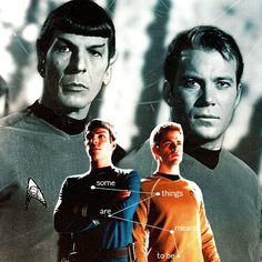 Star Trek Original and Reboot Spock and Kirk. William Shatner, Leonard McCoy, Zachary Quinto and Chris Pine. SubCategory: My feels... It is Simply More than This Mere Mortal Form is Capable of Withstanding.