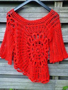Lindevrouwsweb Spanish Sweater Part 4 Crochet Adult Hat, Crochet Jumper, Crochet Jacket, Crochet Blouse, Crochet Granny, Crochet Stitches, Knit Crochet, Crochet Designs, Crochet Patterns