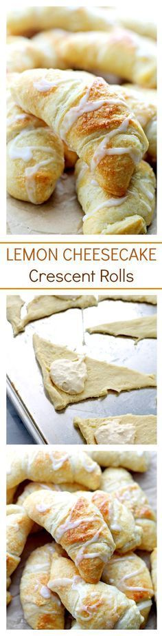 Lemon Cheesecake Crescent Rolls Super easy and incredibly soft Crescent Rolls filled with a sweet and delicious lemon and cream cheese mixture.