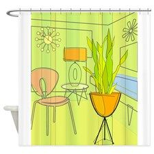 1960s 4 Shower Curtain for