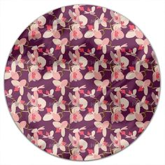 Uneekee Orchids Round Tablecloth