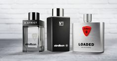 The Strellson fragrances: D.STRICT, No1 and LOADED #fragrance #perfume #man #bottle