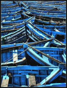 Blue | Greek blue rowboats