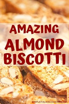dessert recipes 223561568989862522 - Enjoy this Awesome Almond Biscotti recipe! These classic Italian biscotti tastes amazing and are a real crowd pleaser. A perfect Italian dessert recipe for special occasions or the holidays! Almond Biscotti Recipe Italian, Italian Almond Biscuits, Easy Biscotti Recipe, Italian Cookie Recipes, Italian Cookies, Gourmet Recipes, Biscotti Cookies, Almond Cookies, Cookies