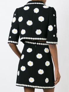 Dolce & Gabbana cropped floral jacket & skirt