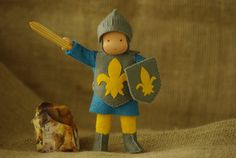 Knight Waldorf doll // Waldorf doll for boys // Play by TaleWorld