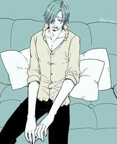 Vinsmoke Sanji, sad, couch; One Piece