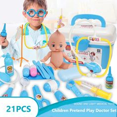 Us 1744 50 Off Children Pretend Play Doctor Nurse Toy Set Portable Suitcase Medical Kit Set Kids Educational Role Play Classic Toys In Doctor Kids Playing Doctor, Doctor For Kids, Role Play, Pretend Play, Best Kids Toys, Toy Sale, Classic Toys, Toys For Girls, Educational Toys