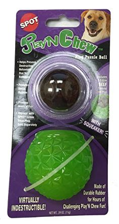 Ethical Pets Play 'N Chew Treat Cap Dog Ball * Check out this great product. (This is an affiliate link and I receive a commission for the sales) Dog Chew Toys, Dog Toys, Gadget, Pets 3, Dental Hygiene, Dog Treats, Pugs, Beef, Cap