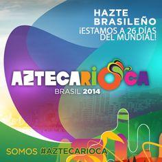 ¡Quién mejor que @Antonio_Rosique para contagiarte la descarga de adrenalina que habrá en el Mundial! ¿Tú ya eres #Aztecarioca? ¡Se dice fácil pero en 26 días dará inicio la fiesta #Aztecarioca! ¡El calor de las playas brasileñas comienza a sentirse!  #LaVozDelMundial