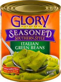Glory Foods healthy and delicious Italian Green Beans are seasoned with the finest ingredients for unmatched Southern Flavor. Great for your favorite recipe or just heat, eat and enjoy!
