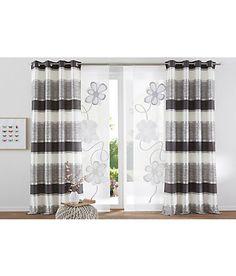 Vorhang, Home wohnideen, »Tilos«, mit Kräuselband (1 Stück) – stein –