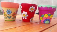 Painted Clay Pots, Painted Flower Pots, Flower Pot Crafts, Clay Pot Crafts, Crochet Cat Pattern, Flower Pot Design, Posca, Terracotta Pots, Garden Crafts