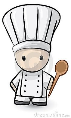 Cartoon chef with spoon
