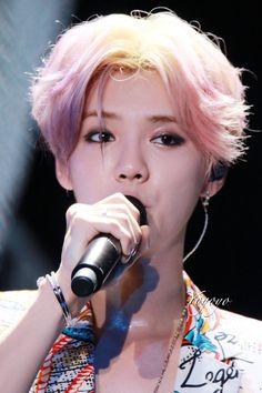 Strawberry yogurt hair colour Luhan