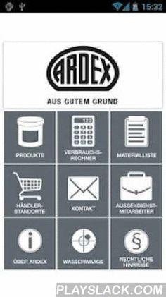 ARDEX  Android App - playslack.com ,  ARDEX bietet mit innovativen Spitzenprodukten im Baustoffbereich weltweit anerkannte Systemlösungen. Mit der ARDEX App können Fachhandwerker, Architekten, Planer und Mitarbeiter des Handels schnell und bequem per iPhone und iPad und anderen mobilen Endgeräten auf das ARDEX Produktsortiment zugreifen und weitere Services nutzen. Die Kernfunktionen stehen in hohem Umfang sogar offline zur Verfügung. Die ARDEX App bietet nicht nur einen schnellen…