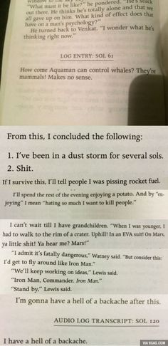 The Martian is a literary masterpiece << can't deny that