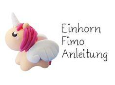Einhorn-Fimo-Anleitung, sieht total süß aus! Hab es mit Nachtleucht-Fimo nachgemacht. Klasse!