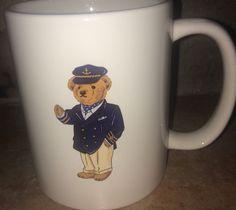 Ralph Lauren Sailor Coffee Mug Classic Teddy Bear Collector Nautical Captain Htf #RalphLauren