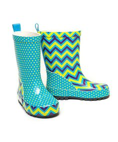 Make soggy days more tolerable with a fun and funky pair of boots. Not only will feet stay dry, they'll also look so lively with dual dancing designs!