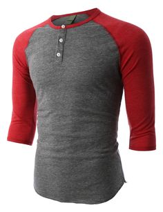 This slim fit raglan 3/4 sleeve baseball button henley shirt combines comfort with style. This lightweight, super comfy henley is crafted from an extremely soft tri-blend fabric with 3/4 raglan sleeve
