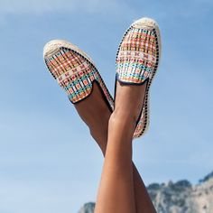 Seaside chic! The new @malhiakent x #soludos collection is perfect for a trip across the med... #summerstyle