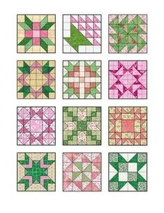 Quilting Tutorials, Quilting Projects, Quilting Designs, Barn Quilt Patterns, Pattern Blocks, Half Square Triangle Quilts, Square Quilt, Graph Paper Art, Star Quilt Blocks